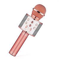 ➣Караоке-микрофон Micgeek WS-858 Rose Gold мощность 5W батарея 1800 mAh беспроводной