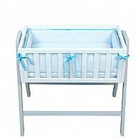 Постельный комплект Veres Cradle 4 эл blue , фото 1
