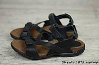 Мужские кожаные сандалии, босоножки StepWey (Реплика)  (Код: StepWey 1072 чер/кор) ► [40,41,42,43,44,45], фото 1