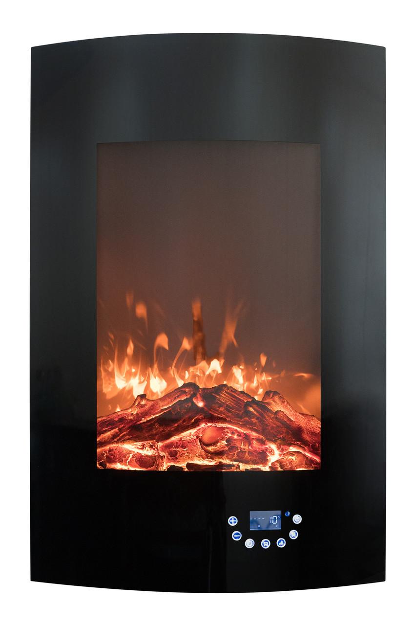 Настенный электрический камин Bonfire RLF-W06 (закругленное стекло)