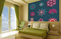 Фотообои Флизелиновые Абстрактные цветы на заказ. Любая картинка и размер