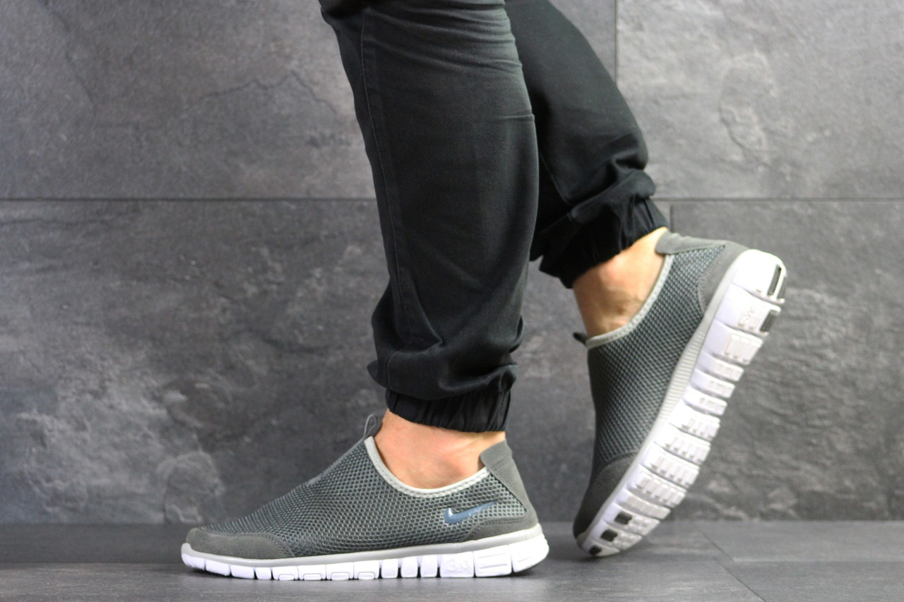Летние кроссовки Nike Free Run 3.0,серые 44р