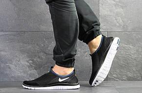 Летние кроссовки Nike Free Run 3.0,черно-белые, фото 2
