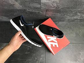 Летние кроссовки Nike Free Run 3.0,черно-белые, фото 3
