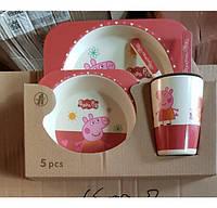 Набор посуды 5в1 Свинка Пеппа, фото 1