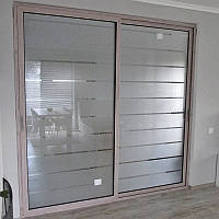 Алюминиевые раздвижные межкомнатные двери и стеклянные офисные перегородки  Профилко PR35