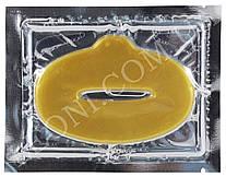 Гидрогелевая маска для губ с Коллагеном и эффектом увеличения объема, Золотая (1шт)