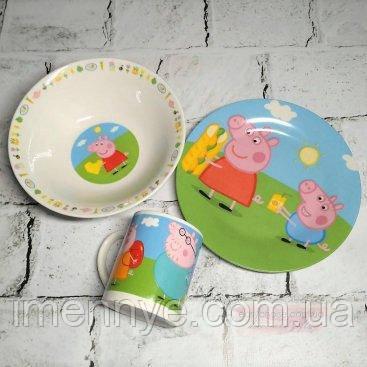 Набор посуды из 3-х предметов Свинка Пеппа