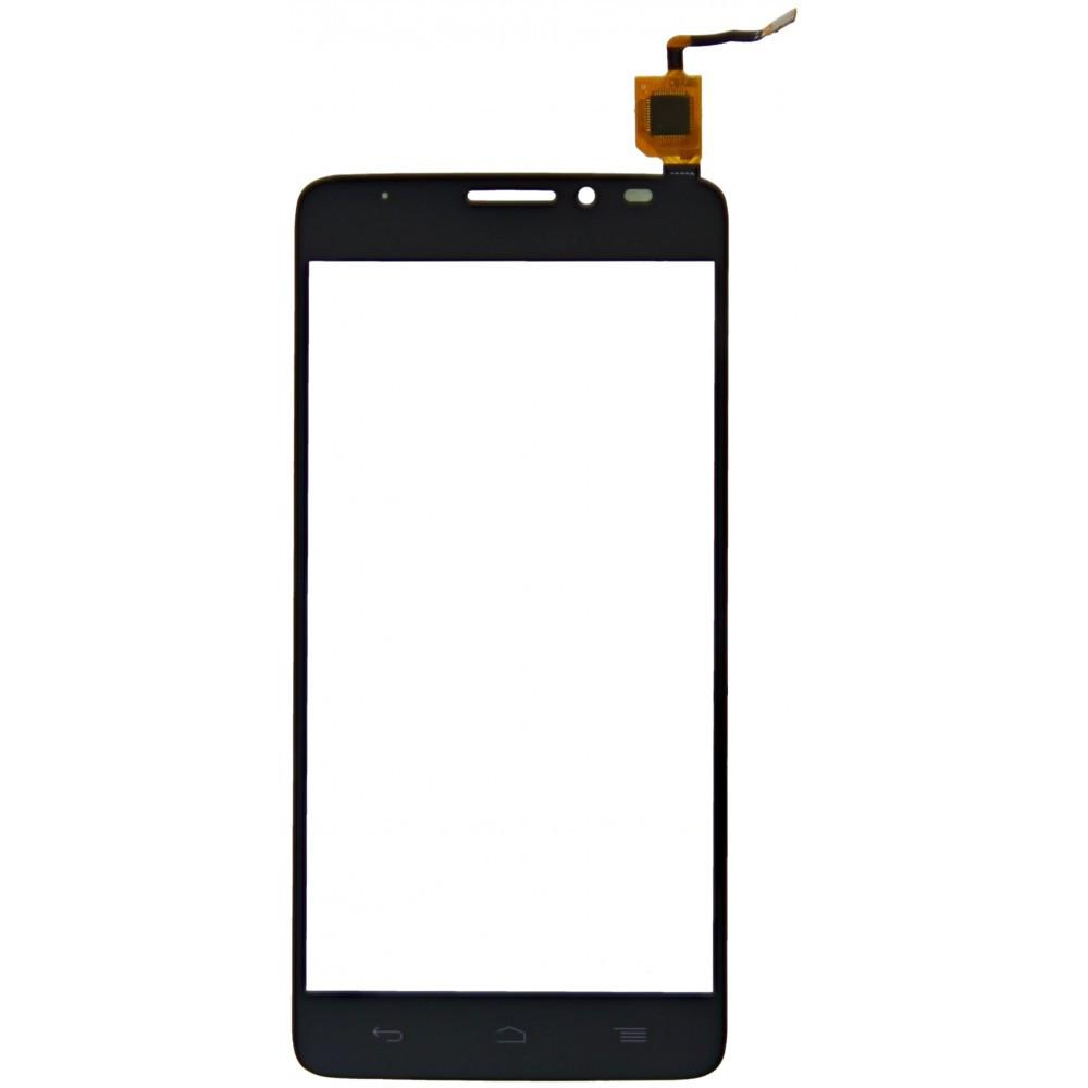 Тачскрин для Alcatel 6043 Onetouch Idol X Plus/6043D, черный, черный Оригинал (проверен)