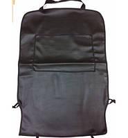 Защитная накидка на спинку сидения кожзам черный