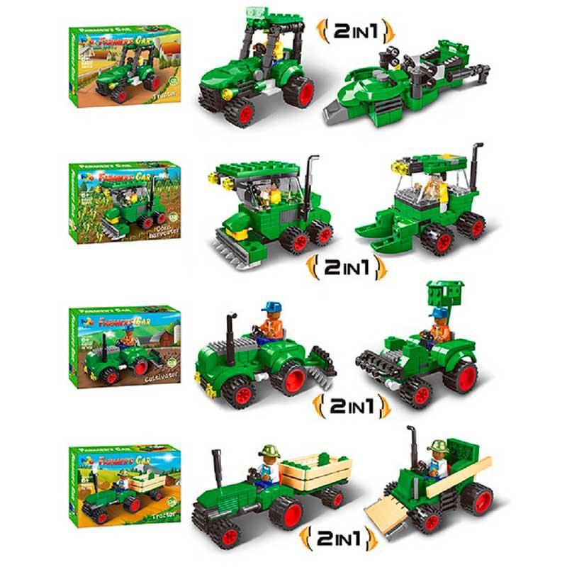 """Конструктор """"Farmers Car"""" 82001 2 в 1, 4 вида"""