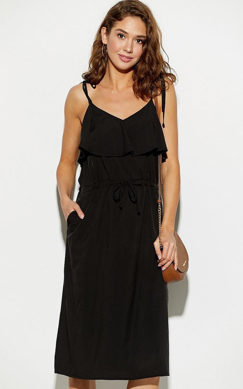(S, M, L) Молодіжне чорне повсякденне плаття Kastro