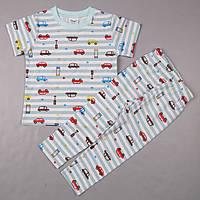 """Пижама детская """"Машинки"""" для мальчика короткий рукав /Flags/ рост 92 см; 116 см (1.5-2 года; 5-6 лет"""