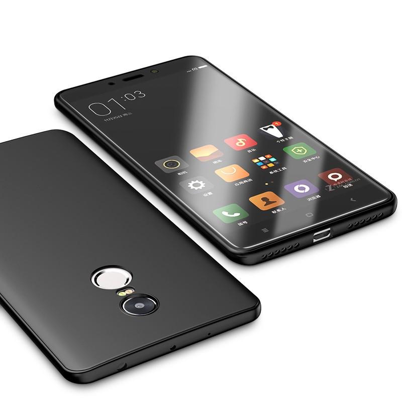 Чехол Cafele матовый силиконовый для Xiaomi Redmi Note 4 Black (XRN4)