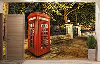 Фотообои Флизелиновые Красная будка на заказ. Любая картинка и размер