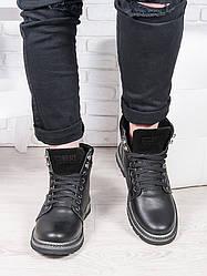 Черные мужские ботинки 6911-28
