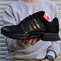 Мужские кроссовки Adidas ClimaCool Black летние в сеточку черные. Живое фото (Реплика ААА+)
