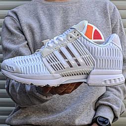 Мужские кроссовки Adidas ClimaCool White летние в сеточку белые. Живое фото (Реплика ААА+)