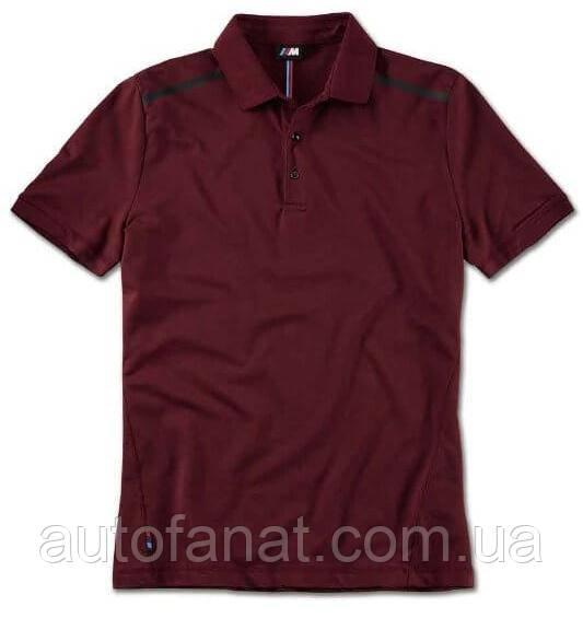 Оригинальная мужская рубашка-поло BMW M Polo Shirt, Men, Burgundy (80142463075)