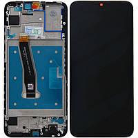 Дисплей для Huawei P Smart (2019) с тачскрином и рамкой черный Оригинал