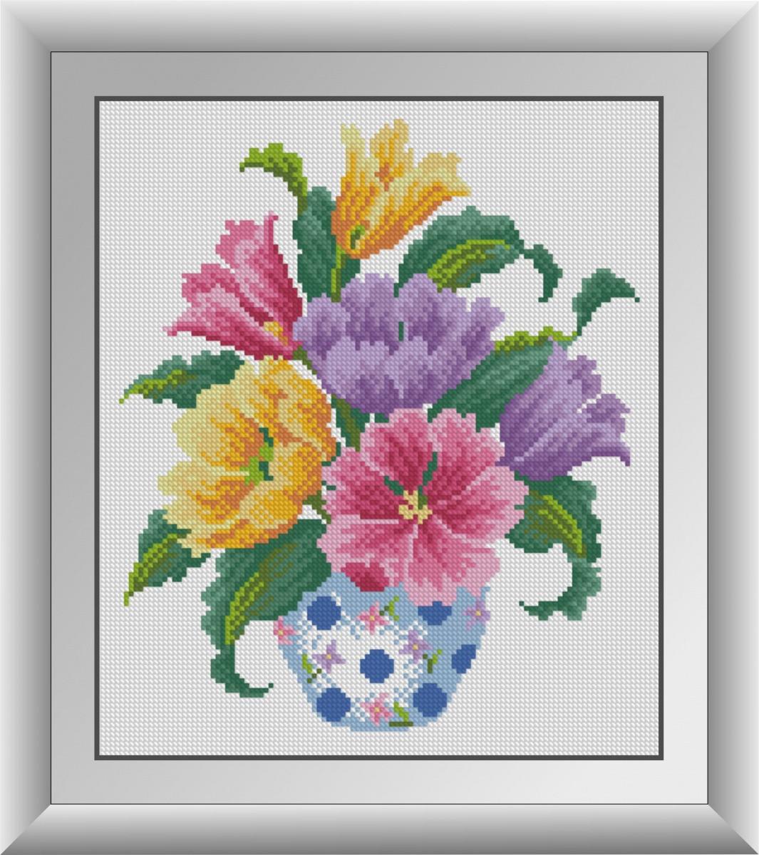 Алмазная мозаика Разноцветные тюльпаны Dream Art 30857 (29 х 34 см)