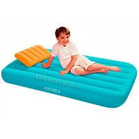 Надувной матрас с подушкой для детей Intex 88х157х18 см (66801) голубой