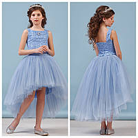 Нежный голубой комплект топ+юбка zironka
