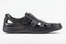 Мужские кожаные летние туфли 030 чорн.