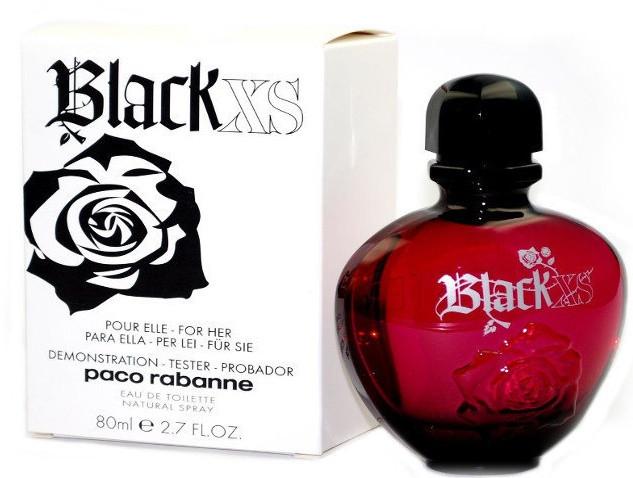 ТЕСТЕР женского парфюма  Paco Rabanne Black XS Pour Femme (80 мл )