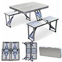 Раскладной алюминиевый стол на 4 места Aluminum picnic table