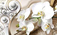 Фотообои 3D цветы флизелиновые 416х254 см Орхидеи и узоры (2952CN)