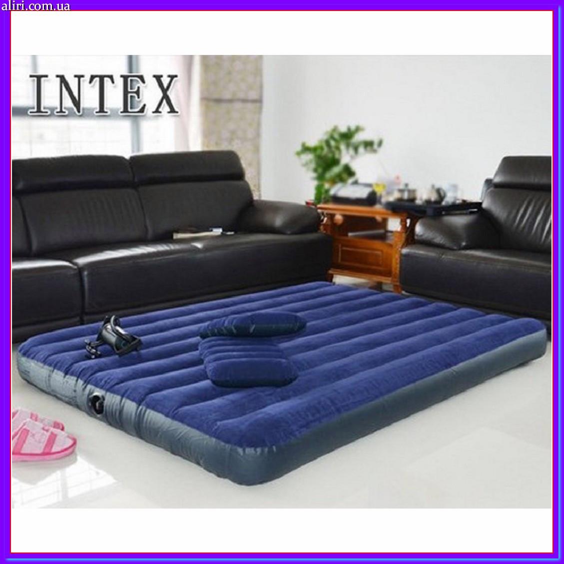 Велюровый односпальный матрас Intex 191x76x22 см