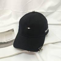 Женская кепка с колечками черная, фото 1