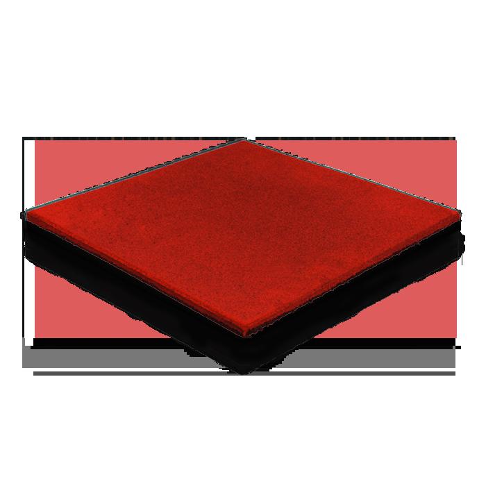 Резиновая плитка 40 мм (красная)
