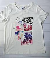Стильная футболка для девочки C&A Германия Размер 134-140