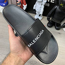 "Сланці Balenciaga Logo Slide Sandals ""Чорні"", фото 2"