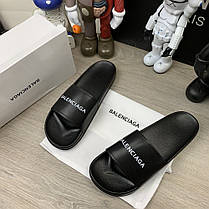"Сланці Balenciaga Logo Slide Sandals ""Чорні"", фото 3"