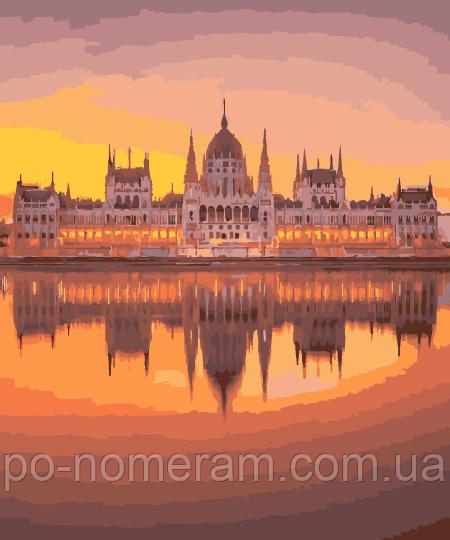 Картина по номерам Венгерский парламент (BK-GX29244) 40 х 50 см (Без коробки)