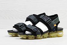 Мужские сандалии Nike Sandals off white x Nike Air Vapormax Black, фото 3