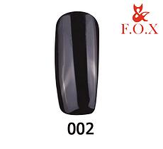 Гель-лак FOX Pigment № 002 ( черный, эмаль), 6 мл