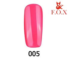 Гель-лак FOX Pigment № 005 ( кислотний рожевий), 6 мл
