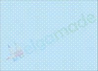 Фетр с принтом ГОРОШЕК НА СВЕТЛО-ГОЛУБОМ, 22x30 см, корейский мягкий 1.2 мм