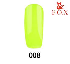 Гель-лак FOX Pigment № 008 (кислотний лимонний), 6 мл