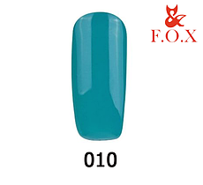 Гель-лак FOX Pigment № 010 (морський зелений), 6 мл
