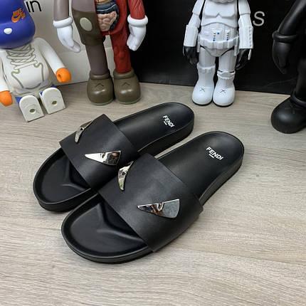 "Сланці Fendi Monster Eyes Slide Sandals ""Чорні"", фото 2"