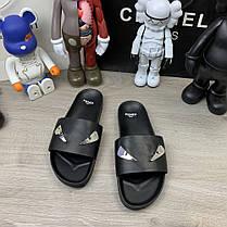 "Сланці Fendi Monster Eyes Slide Sandals ""Чорні"", фото 3"