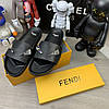 "Сланці Fendi Monster Eyes Slide Sandals ""Чорні"", фото 4"