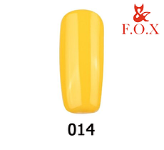 Гель-лак FOX Pigment № 014 (яскравий жовтий), 6 мл