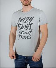 Мужская футболка FREEVER пудра, серая
