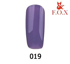 Гель-лак FOX Pigment № 019 (бузково-сірий), 6 мл